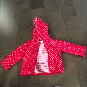 Double sided 3 month red jacket